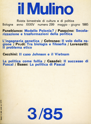 Copertina del fascicolo dell'articolo Etica e manipolazione genetica