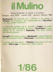 Copertina del fascicolo dell'articolo Hannah Arendt tra