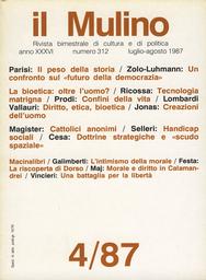 Copertina del fascicolo dell'articolo Cattolici anonimi. Gerarchia, movimenti, laicato