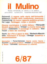 Copertina del fascicolo dell'articolo Il sapere nella storia dell'Università