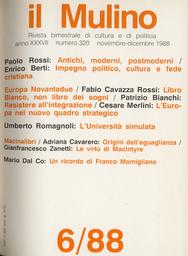 Copertina del fascicolo dell'articolo Il nuovo quadro politico-strategico internazionale e la posizione dell'Europa