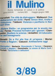 Copertina del fascicolo dell'articolo Partiti, organizzazioni politiche e Regioni in Italia. I termini del problema