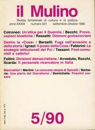 Copertina del fascicolo dell'articolo Un'etica per il duemila