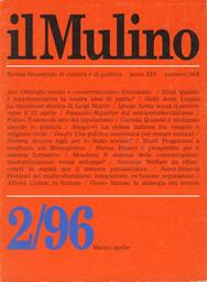 Copertina del fascicolo dell'articolo Senza lo scudo dell'unità politica. La chiesa italiana tra vangelo e religione civile