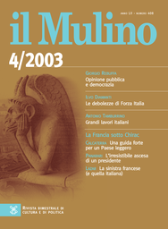 Copertina del fascicolo dell'articolo Le debolezze di Forza Italia