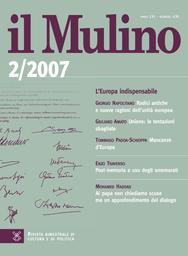 Copertina del fascicolo dell'articolo Radici antiche e nuove ragioni dell'unità europea