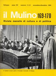 Copertina del fascicolo dell'articolo Azione cattolica e strutture della Chiesa in Italia