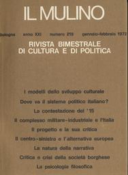 Copertina del fascicolo dell'articolo Il progetto e la sua critica