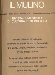 Copertina del fascicolo dell'articolo Modelli culturali di sviluppo