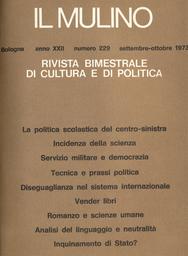 Copertina del fascicolo dell'articolo Tecnica e prassi politica