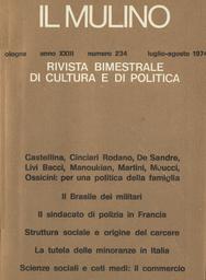 Copertina del fascicolo dell'articolo Struttura sociale ed origine dell'istituzione penitenziaria