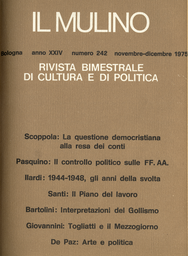 Copertina del fascicolo dell'articolo Togliatti e il Mezzogiorno