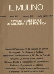 Copertina del fascicolo dell'articolo Il 20 giugno e la rivista