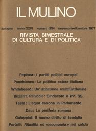 Copertina del fascicolo dell'articolo Ritualità ed economia politica nel calcio all'italiana
