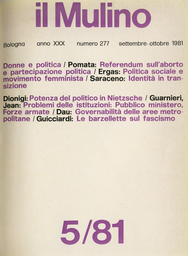 Copertina del fascicolo dell'articolo La potenza del politico in Nietzsche